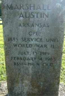 AUSTIN  (VETERAN WWII), MARSHALL - Poinsett County, Arkansas | MARSHALL AUSTIN  (VETERAN WWII) - Arkansas Gravestone Photos