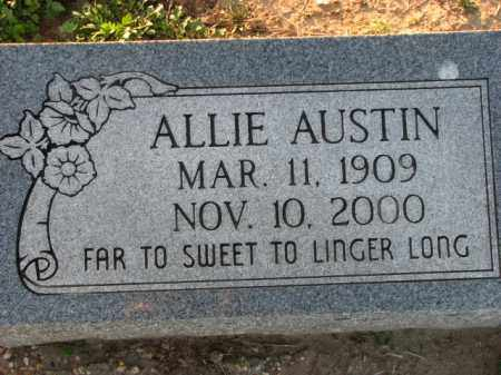 AUSTIN, ALLIE - Poinsett County, Arkansas | ALLIE AUSTIN - Arkansas Gravestone Photos