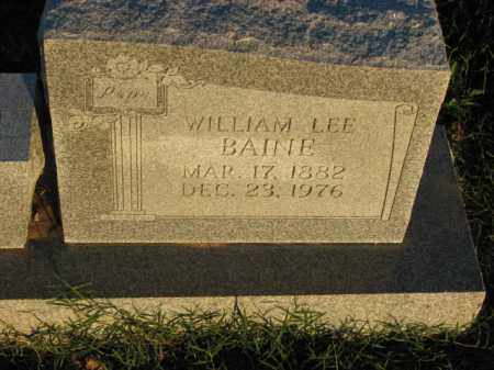 BAINE, WILLIAM LEE - Poinsett County, Arkansas | WILLIAM LEE BAINE - Arkansas Gravestone Photos