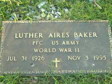BAKER  (VETERAN WWII), LUTHER AIRES - Poinsett County, Arkansas | LUTHER AIRES BAKER  (VETERAN WWII) - Arkansas Gravestone Photos