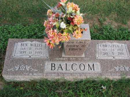 BALCOM, BEN WILLIS - Poinsett County, Arkansas | BEN WILLIS BALCOM - Arkansas Gravestone Photos