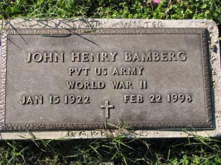 BAMBERG (VETERAN WWII), JOHN HENRY - Poinsett County, Arkansas | JOHN HENRY BAMBERG (VETERAN WWII) - Arkansas Gravestone Photos