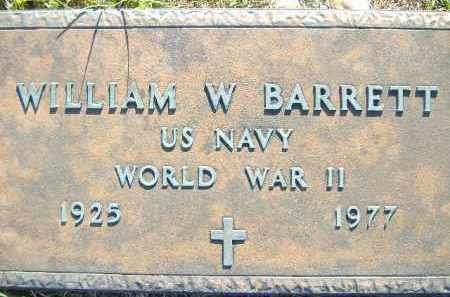 BARRETT  (VETERAN WWII), WILLIAM W. - Poinsett County, Arkansas | WILLIAM W. BARRETT  (VETERAN WWII) - Arkansas Gravestone Photos