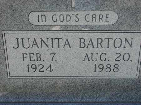 BARTON, JUANITA - Poinsett County, Arkansas | JUANITA BARTON - Arkansas Gravestone Photos