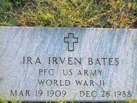 BATES  (VETERAN WWII), IRA IRVEN - Poinsett County, Arkansas | IRA IRVEN BATES  (VETERAN WWII) - Arkansas Gravestone Photos