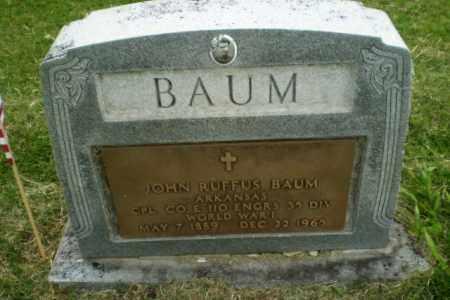 BAUM (VETERAN WWI), JOHN RUFUS - Poinsett County, Arkansas | JOHN RUFUS BAUM (VETERAN WWI) - Arkansas Gravestone Photos