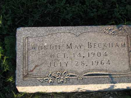 BECKHAM, WONDIE MAY - Poinsett County, Arkansas | WONDIE MAY BECKHAM - Arkansas Gravestone Photos