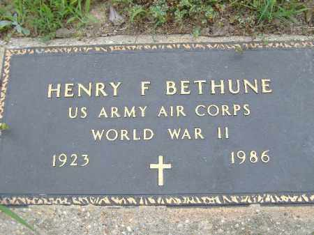 BETHUNE  (VETERAN WWII), HENRY F - Poinsett County, Arkansas | HENRY F BETHUNE  (VETERAN WWII) - Arkansas Gravestone Photos