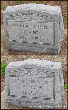 BLACKBURN, PRESTON D - Poinsett County, Arkansas | PRESTON D BLACKBURN - Arkansas Gravestone Photos