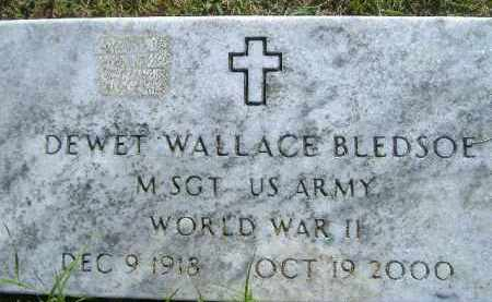 BLEDSOE  (VETERAN WWII), DEWET WALLACE - Poinsett County, Arkansas | DEWET WALLACE BLEDSOE  (VETERAN WWII) - Arkansas Gravestone Photos