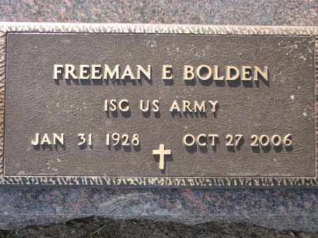 BOLDEN (VETERAN), FREEMAN E - Poinsett County, Arkansas | FREEMAN E BOLDEN (VETERAN) - Arkansas Gravestone Photos