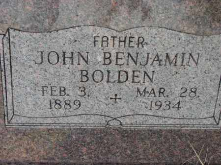 BOLDEN, JOHN BENJAMIN - Poinsett County, Arkansas | JOHN BENJAMIN BOLDEN - Arkansas Gravestone Photos