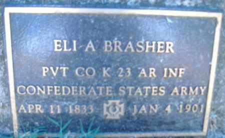 BRADSHER (VETERAN CSA), ELI A. - Poinsett County, Arkansas | ELI A. BRADSHER (VETERAN CSA) - Arkansas Gravestone Photos
