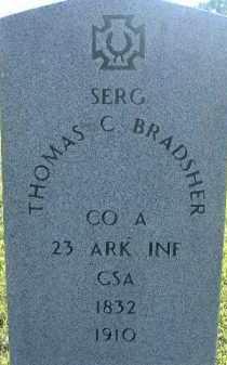 BRADSHER (VETERAN CSA), THOMAS C. - Poinsett County, Arkansas | THOMAS C. BRADSHER (VETERAN CSA) - Arkansas Gravestone Photos