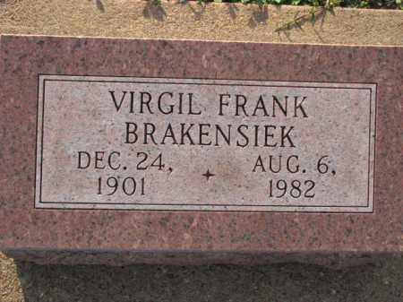 BRAKENSIEK, VIRGIL FRANK - Poinsett County, Arkansas | VIRGIL FRANK BRAKENSIEK - Arkansas Gravestone Photos