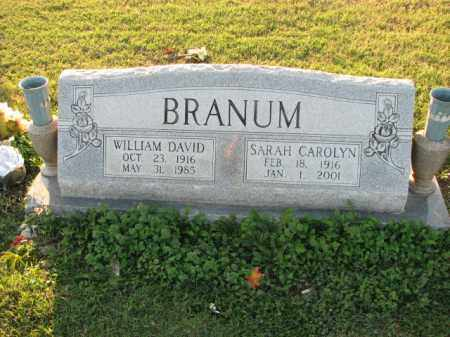 BRANUM, WILLIAM DAVID - Poinsett County, Arkansas | WILLIAM DAVID BRANUM - Arkansas Gravestone Photos