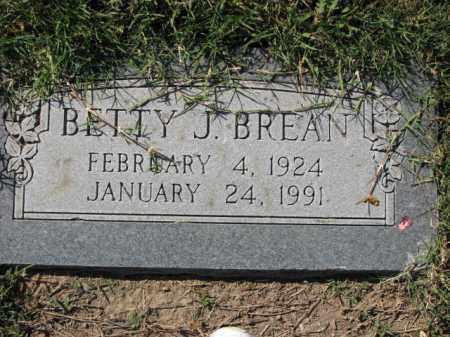 BREAN, BETTY J. - Poinsett County, Arkansas | BETTY J. BREAN - Arkansas Gravestone Photos