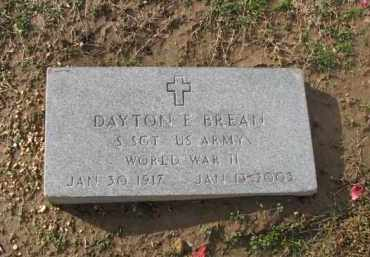 BREAN (VETERAN WWII), DAYTON E. - Poinsett County, Arkansas | DAYTON E. BREAN (VETERAN WWII) - Arkansas Gravestone Photos