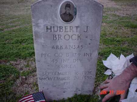 BROCK  (VETERAN KOR), HUBERT J - Poinsett County, Arkansas | HUBERT J BROCK  (VETERAN KOR) - Arkansas Gravestone Photos