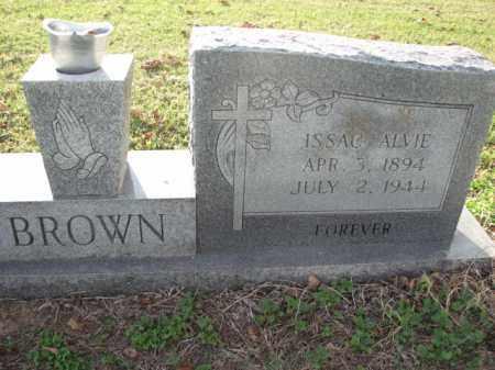BROWN, ISSAC ALVIE - Poinsett County, Arkansas | ISSAC ALVIE BROWN - Arkansas Gravestone Photos