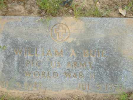 BUIE  (VETERAN WWII), WILLIAM A - Poinsett County, Arkansas | WILLIAM A BUIE  (VETERAN WWII) - Arkansas Gravestone Photos