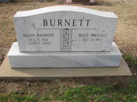 BURNETT, WALTON RANDOLPH - Poinsett County, Arkansas | WALTON RANDOLPH BURNETT - Arkansas Gravestone Photos