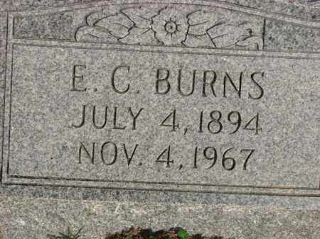 BURNS, E.C. - Poinsett County, Arkansas | E.C. BURNS - Arkansas Gravestone Photos