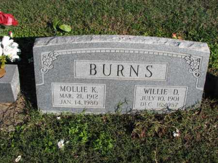 BURNS, MOLLIE K. - Poinsett County, Arkansas | MOLLIE K. BURNS - Arkansas Gravestone Photos