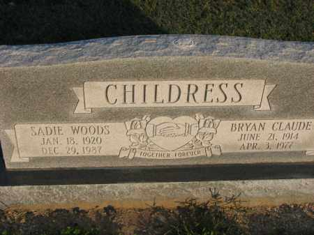 WOODS CHILDRESS, SADIE - Poinsett County, Arkansas | SADIE WOODS CHILDRESS - Arkansas Gravestone Photos