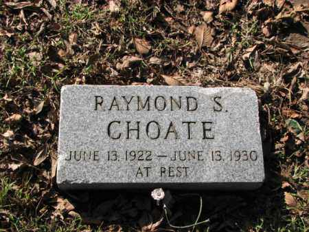 CHOATE, RAYMOND S. - Poinsett County, Arkansas | RAYMOND S. CHOATE - Arkansas Gravestone Photos