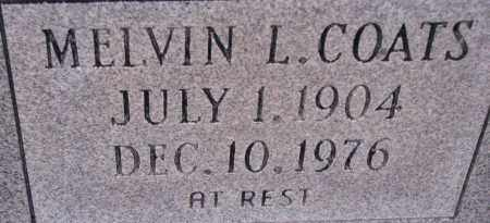 COATS, MELVIN L. - Poinsett County, Arkansas | MELVIN L. COATS - Arkansas Gravestone Photos