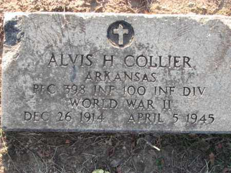 COLLIER  (VETERAN WWII), ALVIS H - Poinsett County, Arkansas | ALVIS H COLLIER  (VETERAN WWII) - Arkansas Gravestone Photos