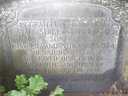 CONDRA, LEWIS M. - Poinsett County, Arkansas | LEWIS M. CONDRA - Arkansas Gravestone Photos