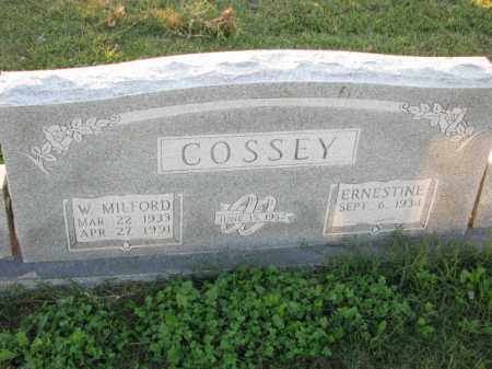 COSSEY, W. MILFORD - Poinsett County, Arkansas | W. MILFORD COSSEY - Arkansas Gravestone Photos