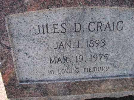 CRAIG, JILES D. - Poinsett County, Arkansas | JILES D. CRAIG - Arkansas Gravestone Photos