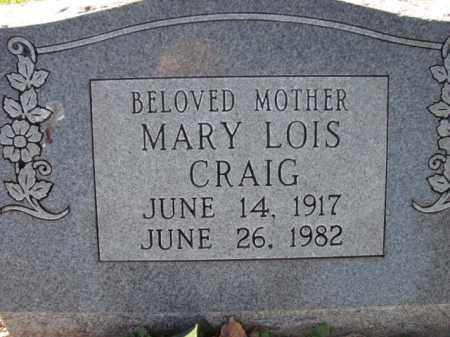 CRAIG, MARY LOIS - Poinsett County, Arkansas | MARY LOIS CRAIG - Arkansas Gravestone Photos