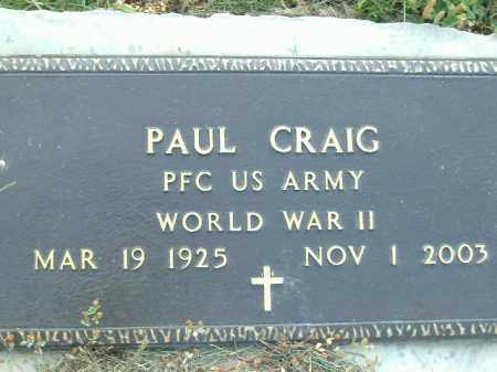 CRAIG  (VETERAN WWII), PAUL - Poinsett County, Arkansas | PAUL CRAIG  (VETERAN WWII) - Arkansas Gravestone Photos
