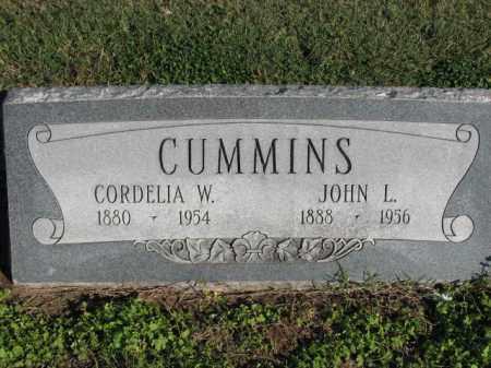 CUMMINS, JOHN L. - Poinsett County, Arkansas | JOHN L. CUMMINS - Arkansas Gravestone Photos