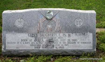 DAUGHERTY (VETERAN WWII), GLENN - Poinsett County, Arkansas | GLENN DAUGHERTY (VETERAN WWII) - Arkansas Gravestone Photos