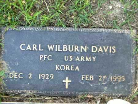 DAVIS  (VETERAN KOR), CARL WILBURN - Poinsett County, Arkansas | CARL WILBURN DAVIS  (VETERAN KOR) - Arkansas Gravestone Photos