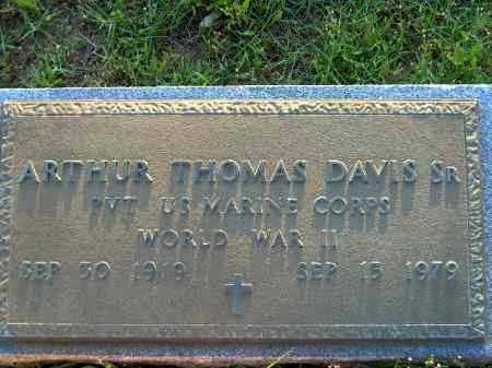 DAVIS, SR.  (VETERAN WWII), ARTHUR THOMAS - Poinsett County, Arkansas | ARTHUR THOMAS DAVIS, SR.  (VETERAN WWII) - Arkansas Gravestone Photos