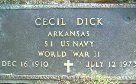 DICK  (VETERAN WWII), CECIL - Poinsett County, Arkansas | CECIL DICK  (VETERAN WWII) - Arkansas Gravestone Photos