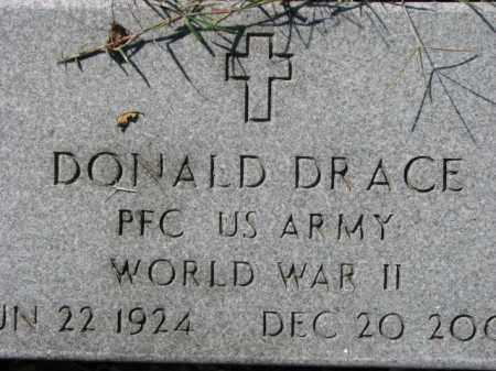 DRACE, VETERAN WWII, DONALD - Poinsett County, Arkansas | DONALD DRACE, VETERAN WWII - Arkansas Gravestone Photos