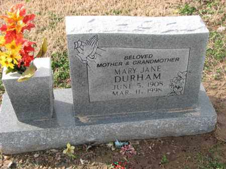 DURHAM, MARY JANE - Poinsett County, Arkansas | MARY JANE DURHAM - Arkansas Gravestone Photos