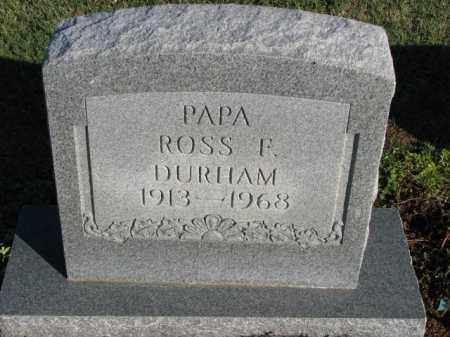 DURHAM, ROSS F. - Poinsett County, Arkansas | ROSS F. DURHAM - Arkansas Gravestone Photos