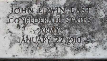 EAST  (VETERAN CSA), JOHN EDWIN - Poinsett County, Arkansas | JOHN EDWIN EAST  (VETERAN CSA) - Arkansas Gravestone Photos