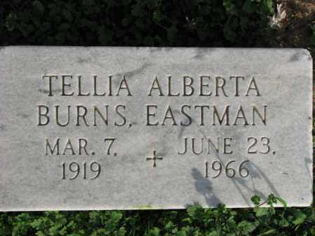 BURNS EASTMAN, TELLIA ALBERTA - Poinsett County, Arkansas | TELLIA ALBERTA BURNS EASTMAN - Arkansas Gravestone Photos