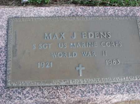 EDENS (VETERAN WWII), MAX J - Poinsett County, Arkansas | MAX J EDENS (VETERAN WWII) - Arkansas Gravestone Photos