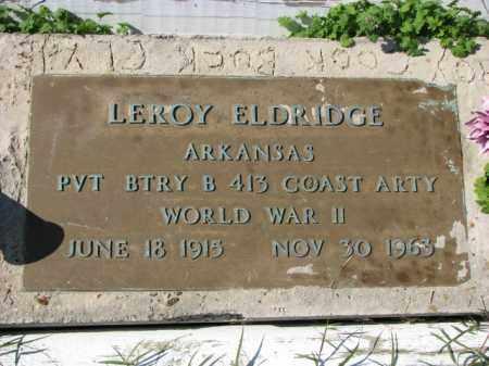 ELDRIDGE (VETERAN WWII), LEROY - Poinsett County, Arkansas | LEROY ELDRIDGE (VETERAN WWII) - Arkansas Gravestone Photos