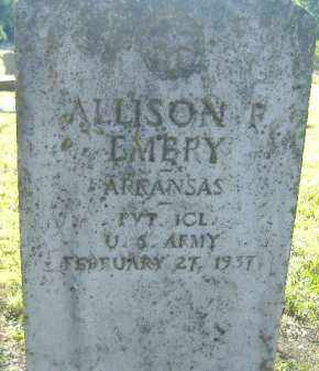 EMBRY (VETERAN), ALLISON F. - Poinsett County, Arkansas | ALLISON F. EMBRY (VETERAN) - Arkansas Gravestone Photos